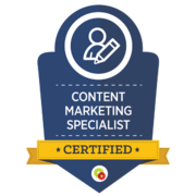 Digital Marketer – Content Marketing Specialist Badge