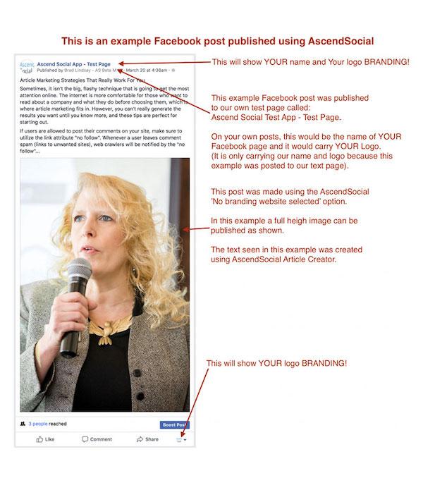 Facebook Unbranded Post